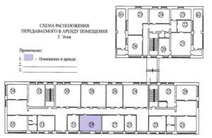 Поэтажный план арендуемых помещений (приложение к договору аренды нежилого помещения)