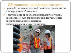 Должностная инструкция инженера по охране окружающей среды (эколога)