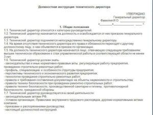 Должностная инструкция директора филиала (пример)