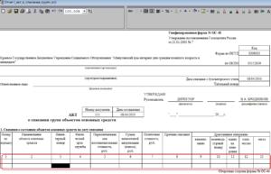 Реестр актов на списание основных средств в бюджетных учреждениях Рослесхоза