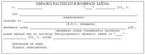 Акт получения денежных средств (займа) (приложение к договору целевого беспроцентного займа на приобретение товара)