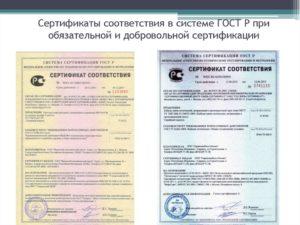 Содержание сертификата соответствия системы качества в системе сертификации ГОСТ Р