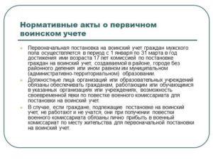 Анкета на гражданина, подлежащего первоначальной постановке на воинский учет