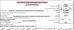 Уведомление о составлении промежуточного ликвидационного баланса некоммерческой организации. Форма N РН0007