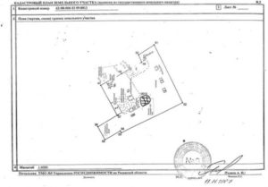 Кадастровый план земельного участка (описание границ земельного участка). Форма N В.5