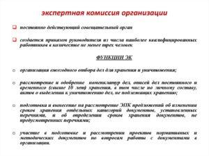 Положение о постоянно действующей экспертной комиссии таможенного органа