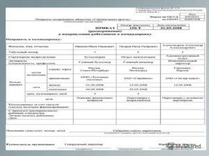 Приказ (распоряжение) о направлении работников в командировку. Унифицированная форма N Т-9А
