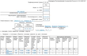 Акт о списании групп объектов основных средств. Унифицированная форма N ОС-4Б