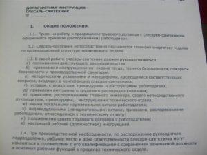 Должностная инструкция плотника (2, 3, 4, 5, 6, 7 разряда, для организаций, выполняющих строительные, монтажные и ремонтно-строительные работы)