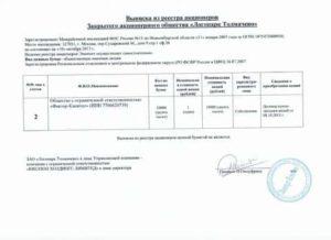 Выписка из реестра акционеров (справка об основных участниках)