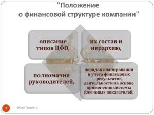 Положение о финансовом отделе предприятия