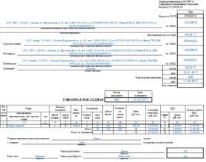 Товарная накладная на поставку продукции по государственному контракту. Унифицированная форма N ТОРГ-12