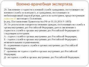 Форма заключения военно-врачебной комиссии о категории годности гражданина к военной службе на момент увольнения из органов внутренних дел Российской Федерации