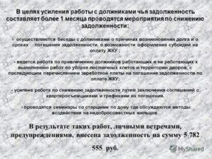 Предупреждение о необходимости погашения долга за жилое помещение и коммунальные услуги на территории города Дзержинский Московской области