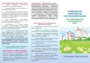 Образец листовки для жителей многоквартирного дома с агитационным материалом о преимуществах создания Товарищества собственников жилья