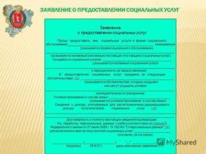 Заявление о предоставлении набора социальных услуг (социальной услуги)