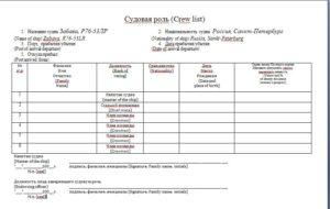 Судовая роль (crew list)