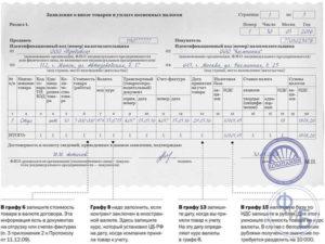 Заявление о ввозе товаров и уплате косвенных налогов