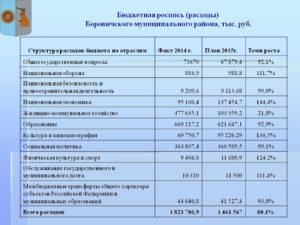 Бюджетная роспись на плановый период