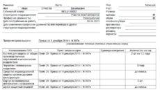 Личная карточка учета выдачи средств индивидуальной защиты (СИЗ) (пример заполнения)