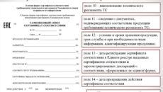 Форма сертификата соответствия продукции требованиям технических регламентов