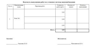 Эскиз изделия (приложение к договору подряда на изготовление и установку ПВХ-профилей)