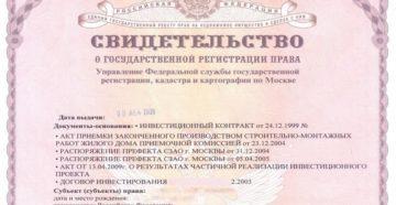Свидетельство о регистрации залога жилых помещений