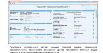 Технический паспорт вагона. Форма N ВУ-4М 0355803